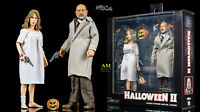 NECA HALLOWEEN II - DOCTOR LOOMIS & LAURIE STRODE - CLOTHED 2-PACK - NEU/OVP