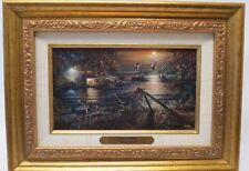 "Terry Redlin ""Social Hour"" Canvas Gold Framed Print~Precious Memories Collection"