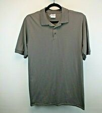 Joes USA Athletic Apparel S/S Men's Large Tall Polo Shirt Gray Solid Color