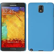 Hardcase Samsung Galaxy Note 3 rubberized light blue Cover + protective foils