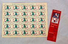 Christmas Seals /Stamps 1969 USA  Full Sheet  & 1955 Bookmark
