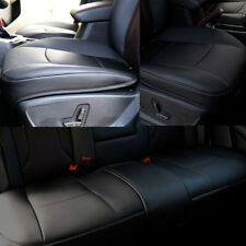 3PCS Deluxe Car Seat Covers Backless Protector Cushion Front Rear Leather Cover