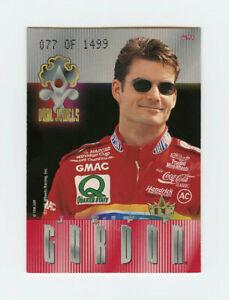 Dale Earnhardt & Jeff Gordon 1996 Crown Dual Jewels Treasure Chest Insert Card