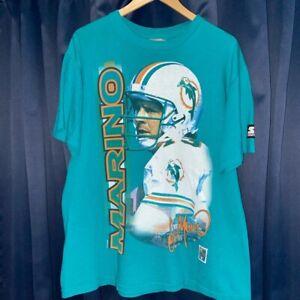 RARE Vintage Starter Miami Dolphins QB Dan Marino T-shirt!! Size Large