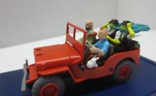 Moulinsart Tintin Herge Red Willie Jeep in Acrylic Case