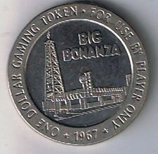 The Big Bonanza Casino $1.00 Gaming Token 1967 North Las Vegas Nevada