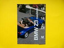 Prospekt / Katalog / Brochure BMW Z3 1,8, 1,9, 2,8 und Z3 M Roadster  2/1996