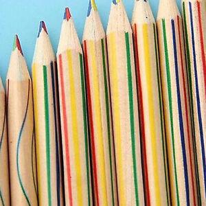 Am _10PCS Regenbogen Bleistift 4 in 1 Farbe Zufällige Malen Zubehör Set Kind
