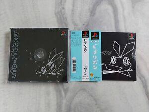 Vib-Ribbon w/ OBI Spine Card NTSC-J (Sony Playstation, 1999)
