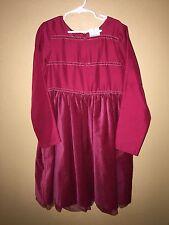4586 GYMBOREE Red CHRISTMAS Holiday Velvet Peekaboo Tulle Dressy Dress Girls 9