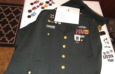 US ARMY 11th AIRBORNE LT COLONEL DRESS GREEN UNIFORM Ribbons Medals