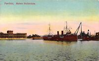 POSTCARD  EGYPT   PORT  SAID     Dutch  House