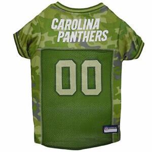 Pet's First Carolina Panthers NFL Official License Camo Pet Polyester Dog Jersey