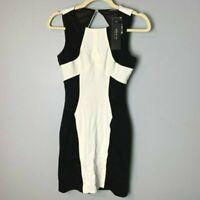 Ark & Co. NEW Women's Sheath Dress Size Small Sleeveless Black Off White