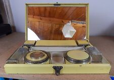 Art Deco ladies Travelling Vanity set primrose yellow 1920's-30 's
