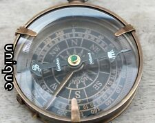 Antique Brass Nautical Flat Compass Marine Directional Dollond London Xmas Gift