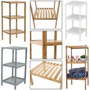 3 Tier Book Shelf Unit Bamboo Book case Bathroom Kitchen Storage Rack Display