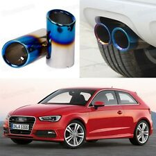 2Pcs Blue Exhaust Muffler Tail Pipe Tip Tailpipe for Audi A3 2011-2014 12 13