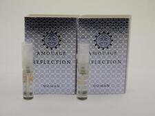 2 x Amouage REFLECTION WOMAN EDP Eau de Parfum 2ml Vial Spray New With Card
