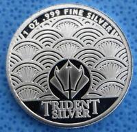 Thalassa Spirit of the Sea 1 Ounce .999 Fine Silver Round, Greek Mythology Rnd