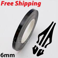 "6mm 1/4"" Pin Stripe Pinstriping Soild Line Tape Vinyl Decal Sticker Car Black"