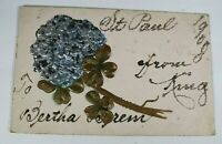 Vintage Embossed Greeting Card 1900s Rare Posted Antique Postcard Collectible