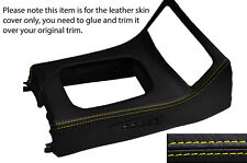 YELLOW STITCH GEAR SURROUND LEATHER SKIN COVER FITS HONDA CRX DEL SOL 92-97