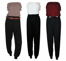 Plus Size Bandeau Jumpsuits & Playbacks without Pattern for Women