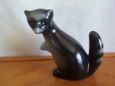 "Vintage Howard Pierce Porcelain Standing Raccoon Gray/Black 6-1/4"" Tall !"