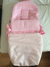 Saco de invierno para Silla Paseo bebé universal de color rosa