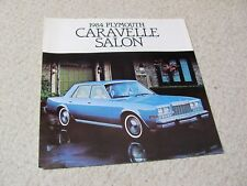 1984 CANADIAN PLYMOUTH CARAVELLE SALON SALES BROCHURE