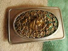 "VTG 50s BRASS/NICKEL FILIGREE  HORSE WESTERN Belt Buckle for 1.4"" BELT"