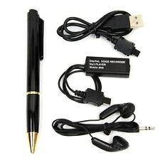 Rechargeable Mini USB Digital Hidden Voice Activated Recorder Pen Dictaphone 8GB