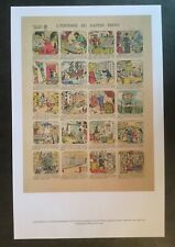 Repro antique 1929 French litho Cartoon HISTORY OF WALLPAPER Jean Chaperon PRINT