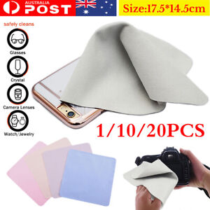 10/20pcs Microfiber Cleaning Cloth for Screen Camera Lens Cleaner Glasses Tablet