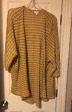 Lularoe Lindsay Medium M Mustard Stripe Lightweight