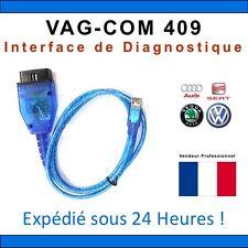 VAGCOM OBD 2 USB 409 LOGICIEL VW VOLKSWAGEN AUDI SKODA SEAT VAG COM DIAGNOSTIC