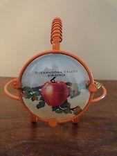 Vintage SHENANDOAH VALLEY VIRGINIA VA Apple Advertising Metal Holder