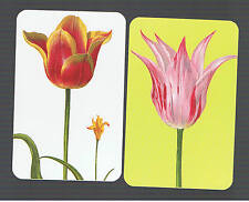 Playing Swap Cards  2  SEMI  VINT   DELUXE  GENUINE CASPARI   FLOWERS W543