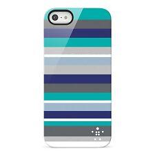 Belkin Bold Striped Shield Case for iPhone 5 5s 5 SE Blue  Scratch resistant New