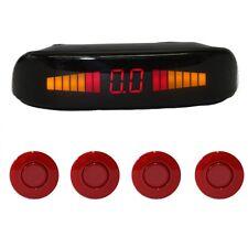"""Einparkhilfe """"Parking Welt"""" 4x Sensoren 21mm Rot Rückfahrwarner PDC M5"""