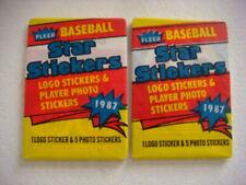 1987 FLEER BASEBALL STAR STICKERS PACKS LOT OF TWO(2)