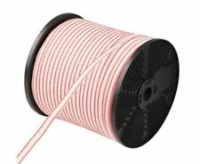 NEW 400M ROLL ELECTRIC FENCE ENERGISER POLY TAPE STAINLESS STEEL POLYWIRE PETS