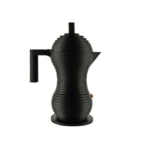 Alessi Pulcina espresso coffee maker high-quality design ,6 cups, full black