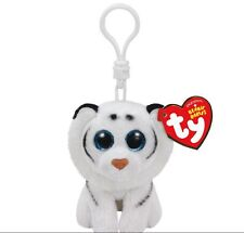 Ty Beanie Boo Tundra the white tiger Clip Keychain