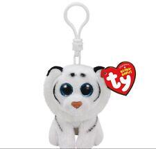 Ty Beanie Boo Tundra the white tiger Clip Keychain