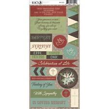 "Moxxie IN MEMORY - 6x12"" sticker sheet - Sympathy condolences cards / scrapbooks"