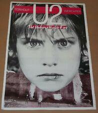 U2 Unforgettable Fire Belgium Tour Poster Torhout-Werchter Festival 1985