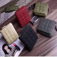 Women Mini Wallet Zipper Card Holder Coin Purse Small Leather Clutch Bag CF