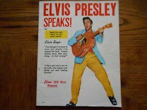 Vintage 1956 Rare Magazine Elvis Presley Speaks--Read his own story in his words